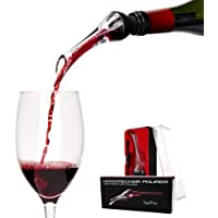 Wine Aerator Pourer - Arc Wine Luxury Red Wine Aerating Pourer and Decanter Spout (Woodpecker) Gift Box Set
