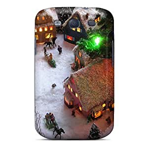 Durable Christmas Village View4 End Back Case/cover For Galaxy S3