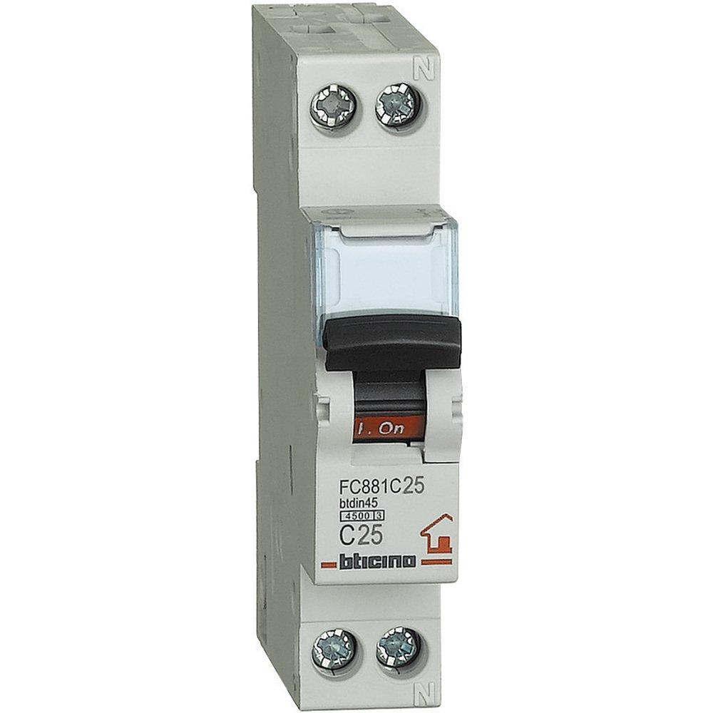 Bticino Industrial FP btdin45/Interruptor 1/m 1P SFC881C25 N magnetot/érmico C10 4500/A