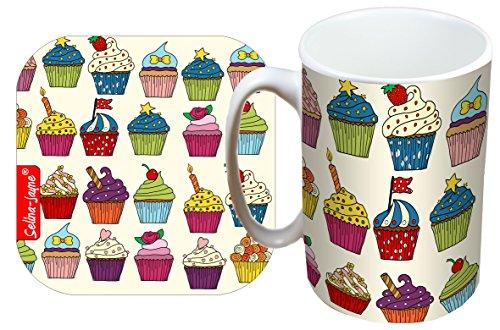 Selina-Jayne Cupcakes Limited Edition Designer Mug and Coaster Gift Set