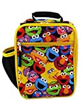 Sesame Street Elmo Boys Girls Soft Insulated School Lunch Box (One Size, Multicolor)