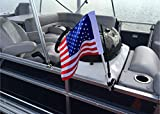 Caddie Buddy American Flag Clamping Mount for Boats