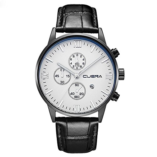White Face Leather Strap - 3