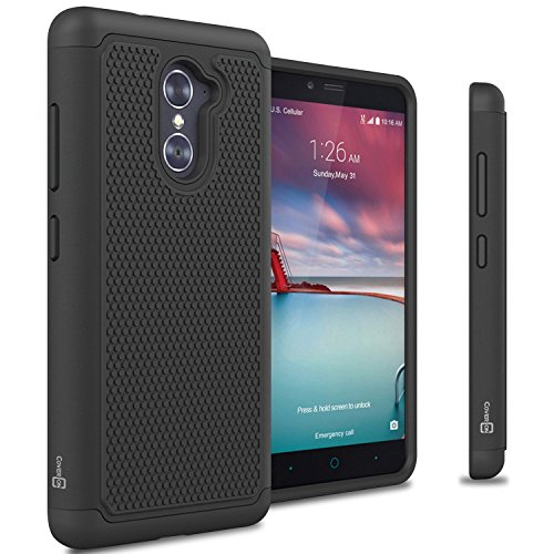 ZTE Grand X Max 2 Case, ZTE Max Duo LTE Case, CoverON® [HexaGuard Series] Slim Hybrid Hard Phone Cover Case for ZTE Grand X Max 2 / Max Duo LTE - Black - Lte Grand X Max Cases