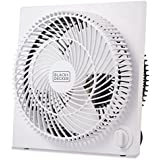 BLACK+DECKER BFB09W 9 in. Quiet Mini Tabletop Box Fan