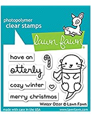 """LAWN FAWN Clear Stamps 3""""X2"""" Winter Otter (LF1474)"""