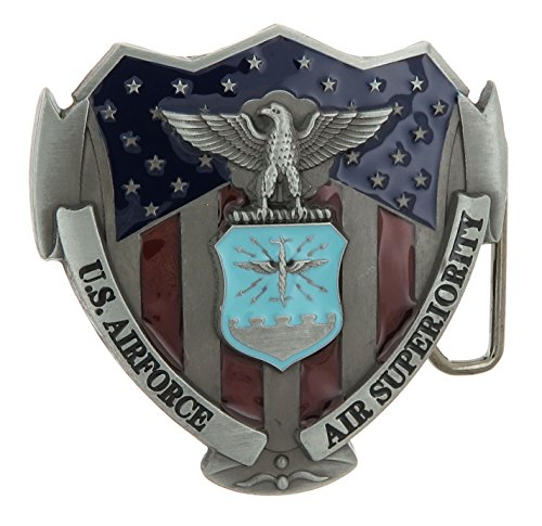 Air Force Belt Buckle (U.S. Airforce USAF Military Color Belt Buckle)