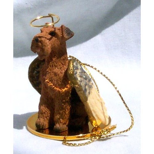 Airedale Terrier Angel Dog Ornament