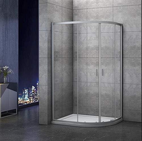 Mamparas de ducha Semicircular Puerta Corredera Gris Mate 5mm ...
