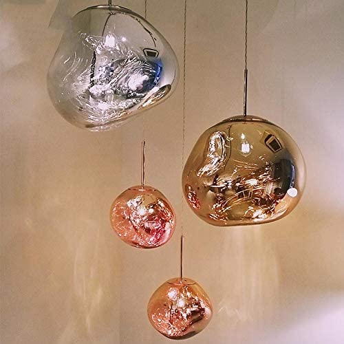 Chandelier Small Pendant Lamp Acrylic Decorative Lamp Suitable for Dining Room Bedroom Bedside Bar Counter Bar Hanging Light (Color : Gold)