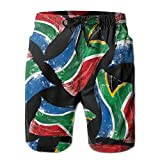 Africa Flag South Men Quick Dry Outdoor Shorts Soft Drawstring Boardshort With Pockets