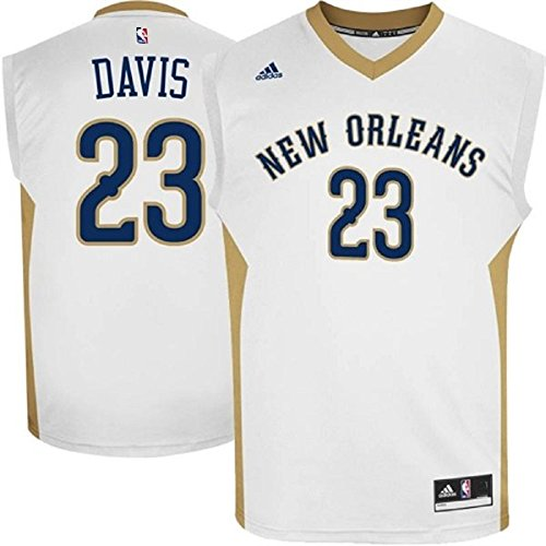 Anthony Davis New Orleans Pelicans #23 NBA Youth Home Jersey White (Youth Small Size 8)