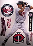 "Joe Mauer FATHEAD Minnesota Twins Logo Set Official MLB Vinyl Wall Graphics 17"" INCH"