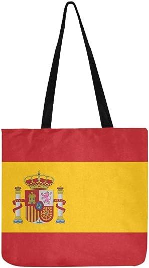 Vector - Bolso de mano con bandera de España, con ilustración de la bandera de España: Amazon.es: Zapatos y complementos
