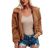 Clearance Womens Coat Cinsanong Warm Outerwear Zipper Artificial Wool Jacket Ladies Winter Parka