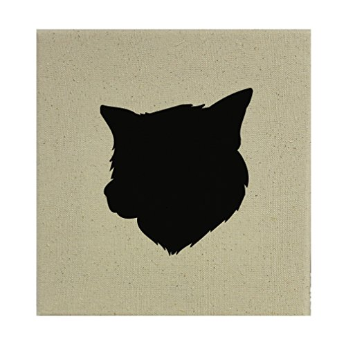 Style in Print Stretched Natural Canvas Thai Bangkaew Dog Silhouette By 8''X8'' by Style in Print