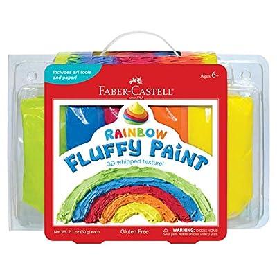Faber-Castell Rainbow Fluffy Paint - Sensory Paint Set for Kids - Paint Your Own 3D Art, Scratch Art & More: Toys & Games