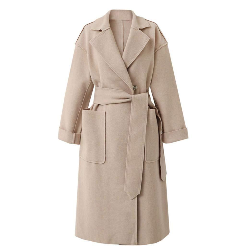 Pandaie Jacket,Women Long Sleeve Oversize Loose Cashmere Woollen Jacket Cardigan Coat Overcoat