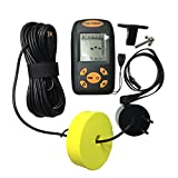 Portable LCD Display Fish Finder Fishfinder with Waterproof Wired Sonar Sensor Transducer 0.6-100M