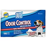 quilted dog pad - OUT! 5 Layer Odor Control Quilted Dog Pads, 21 x 21 inches, Multiple Counts
