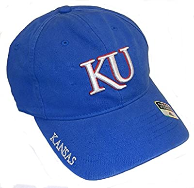 adidas - Kansas Jayhawks Blue Slouch FlexFit Hat Cap - One Size Fits Most from ADIDAS