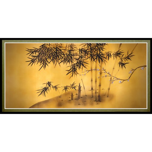 - Oriental Furniture Bamboo Tree Canvas Wall Art