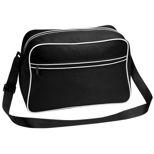 Shoulder Retro Black Litres Bag Grey 18 Adjustable Bagbase Graphite qgdEg