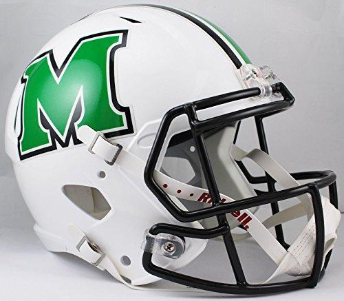 NCAA Marshall Thundering Herd Full Size Speed Replica Helmet, White, Medium by Riddell