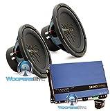 pkg Soundstream RUB.124 Pair 12'' 2000W Subwoofers + RN1.3000D Monoblock Amplifier