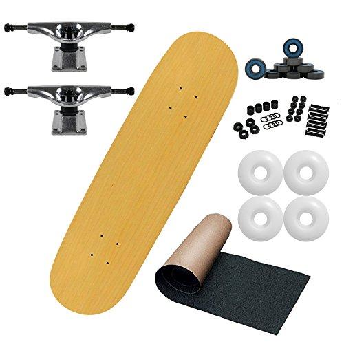 (Moose Intro Complete Unassembled Skateboard, Natural, 8