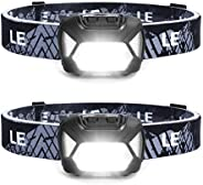 LE LED Headlamp, Super Bright Battery Operated Head Lamp, White & Red Light and 6 Lighting Modes, Compact