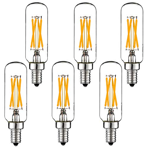 LiteHistory E12 led bulb Dimmable 4W equal 40W led candelabra bulb daylight 5000K clear T6 T25 E12 edison bulb for ceiling fan light bulbs,chandelier light bulbs AC120V 400LM E12 candelabra -