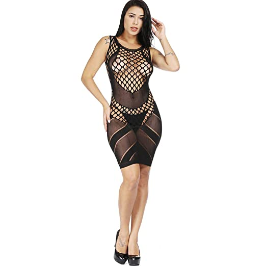 2f1af2d19 Womens lace Strappy Bodysuit Crotchless Lingerie Fishnet Bodystockings  Bodystocking Plus Size Open Crotch BlackFree Size