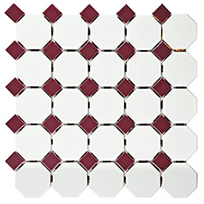SomerTile Retro Octagon Porcelain Floor and Wall Tile