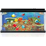 Lightahead® Artificial Aquarium Fish Tank Multi Color LED Swimming Fish Tank with Bubbles