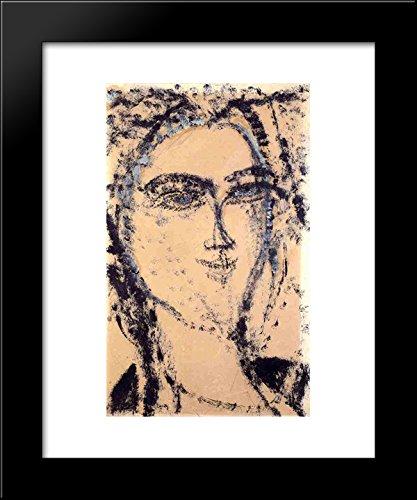 Woman's Head 20x24 Framed Art Print by Modigliani, Amedeo ()