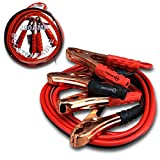 Zento Deals Premium Heavy Duty Jumper Booster Cables No Tangle Design (200 Amp 10 Gauge 12 Feet) with FREE Travel Case