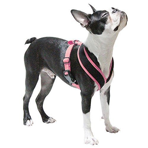 Gooby Choke Free Active X Head-in Synthetic Lambskin Soft Harness for Small Dogs, Pink, Small by Gooby (Image #1)