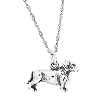 Amazon sterling silver oxidized dachshund weenie dog charm with amazon sterling silver oxidized dachshund weenie dog charm with thin singapore chain necklace 16 inches pendant necklaces jewelry aloadofball Gallery