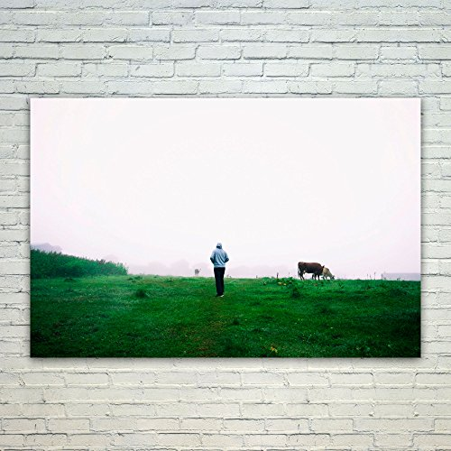 - Westlake Art Wallpaper Cow - 12x18 Poster Print Wall Art - Modern Picture Photography Home Decor Office Birthday Gift - Unframed 12x18 Inch (69BB-5531C)