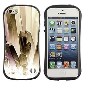 Suave TPU GEL Carcasa Funda Silicona Blando Estuche Caso de protección (para) Apple Iphone 5 / 5S / CECELL Phone case / / Painting White Gold Jewels Clean /