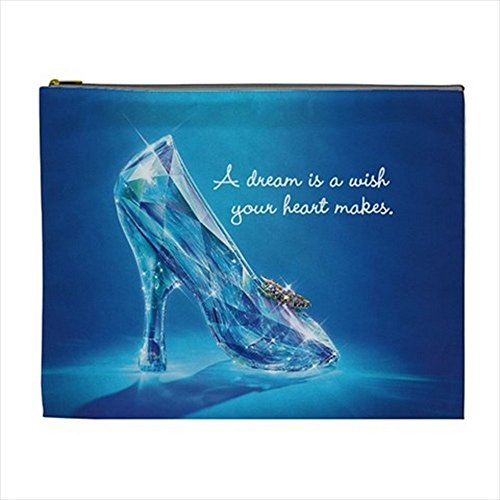 Cinderella Makeup (Cinderella Glass Shoe Cosmetic Bag Pencil Case Multi Purpose Pouch 2 sides (XL))