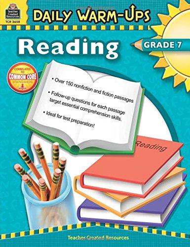 Read Online Daily Warm-Ups: Reading Grade 7 pdf