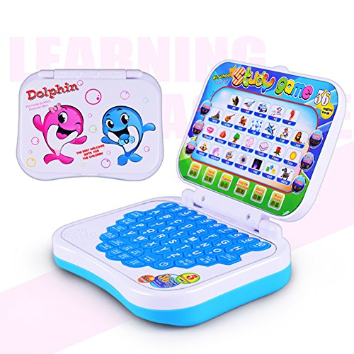 (Samber Children Toy Computer Early Educational Learning Machine Pre-School Computer Toys Learning Developmental Laptop Toy Gift for Kids Children)