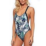 DDSOL Womens One Piece Swimsuit Tropical Tribal Print Swimwear Bathing Suit L