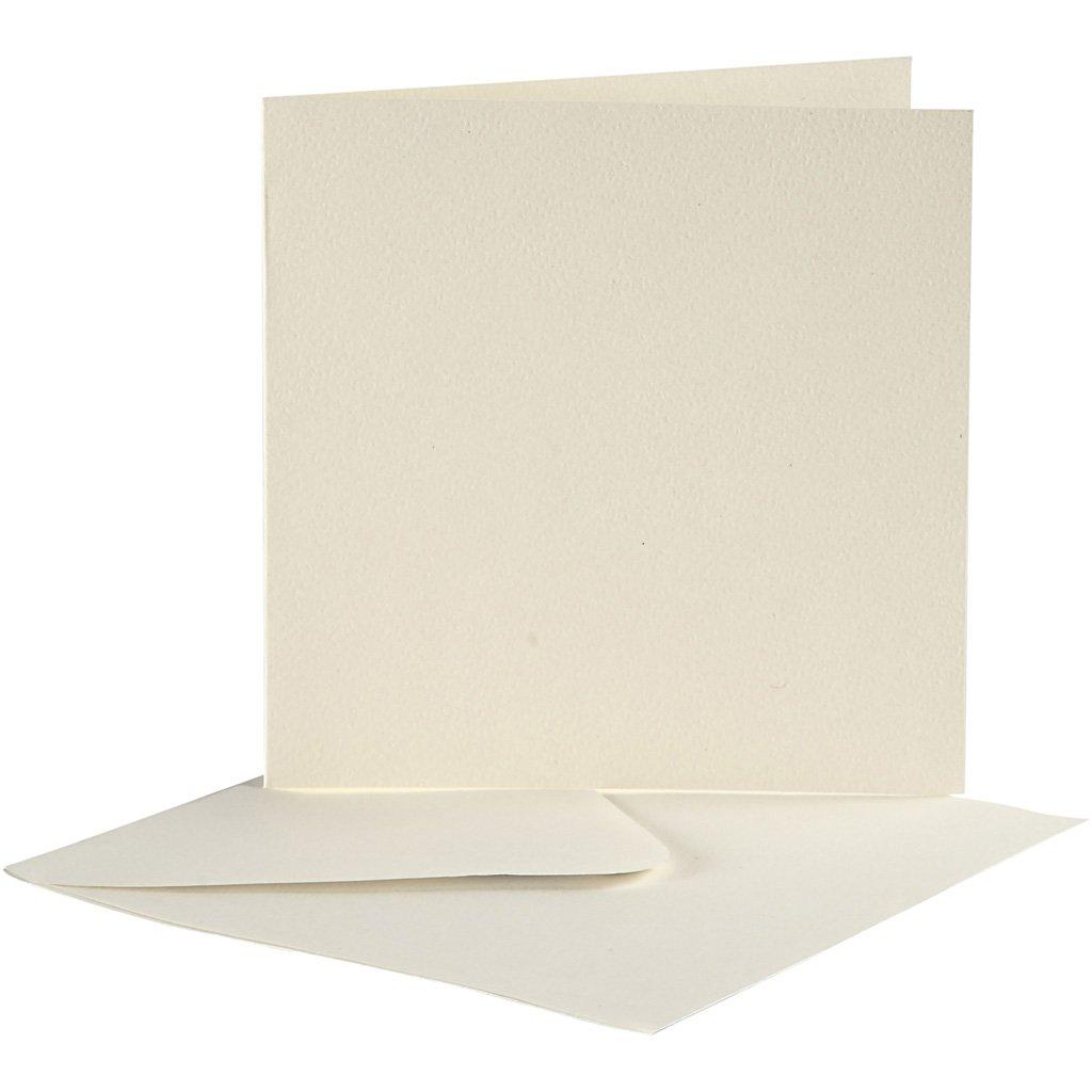 Creativ carte e buste Company, formato 10,5x15 cm carta, 10 set bianco sporco Creativ Company 23708