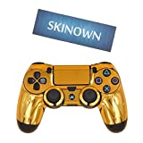 SKINOWN® PS4 Controller Gold Skin Golden Sticker Vinly Decal Cover for Sony PlayStation 4 DualShock Wireless Controller