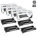 LD Compatible Replacements for HP 26X / CF226X Set of 4 High Yield Black Laser Toner Cartridges for LaserJet Pro Printers: M402dn, M402dw, M402n, MFP M426fdn, MFP M426fdw
