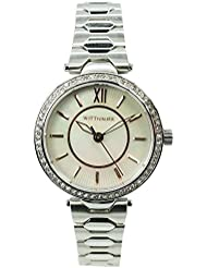 Wittnauer WN4019 Womens Stainless Steel Silver Bracelet Pearl Dial Watch