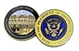Donald Trump, 45th President, Signed Inauguration Challenge Coin, 3D, in Plastic Case 45MM Big